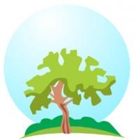 Vector tree logo